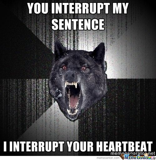 You Interrupt My Sentence???