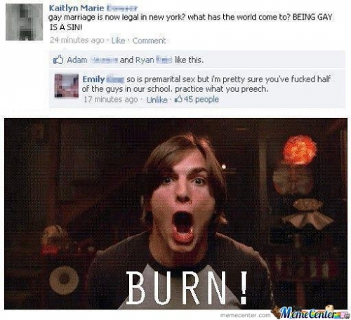you just got BURN