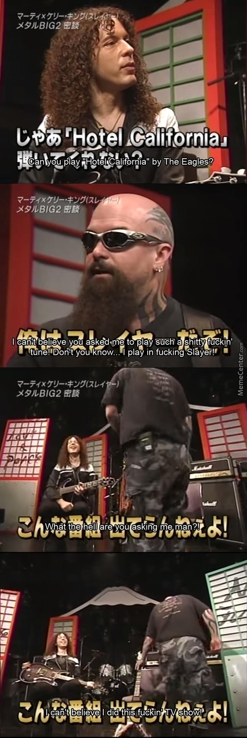 You Think Kerry King Is A Motherfucking Game?