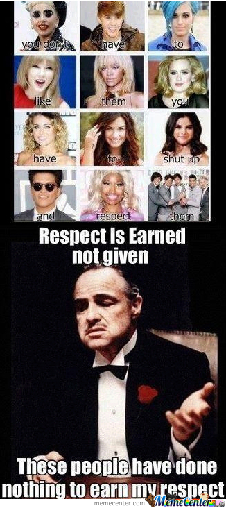 You Want My Respect!