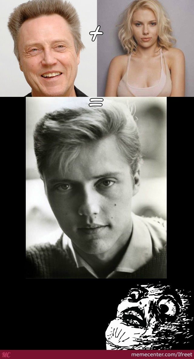 Young Christopher Walken Or Scarlett Johansson Or Both