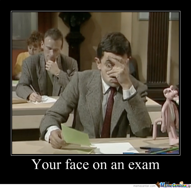 Your Face On The Exam