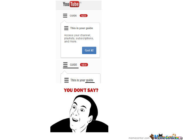 Youtube..you Dont Say ??