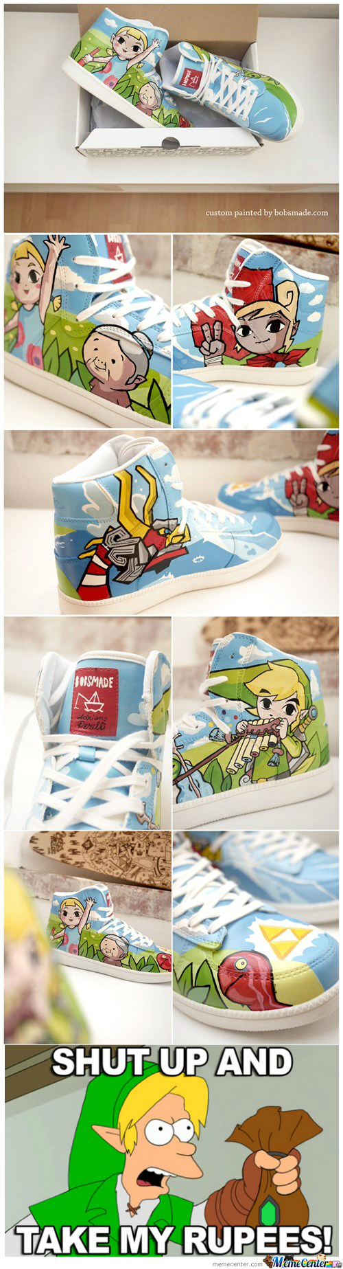 Zelda Sneakers: Shut Up And Take My Rupees!