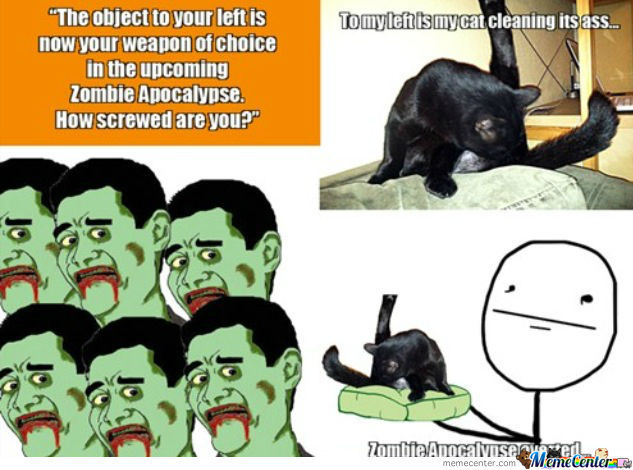 Funny Memes About Zombies : Zombie apocalypse by sebasbuis meme center