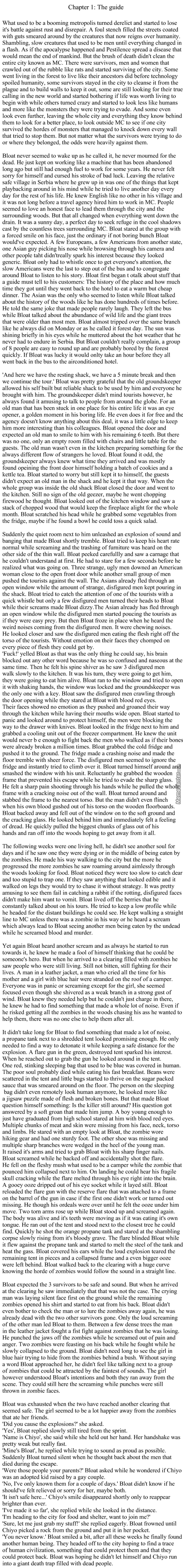 Zombie Survival Chapter 1
