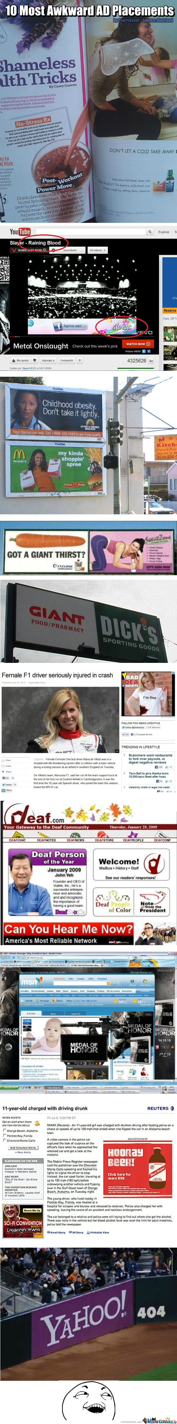 10 Most Awkward Ad Placements