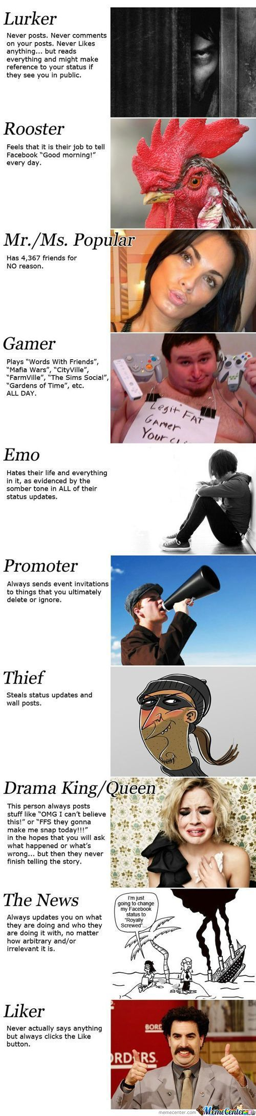 11 Types Of Wil Fb Users! (Sorry For Long Post)