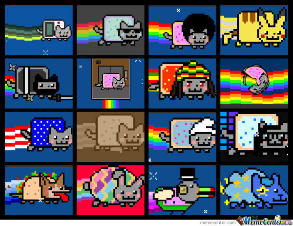16 types of nyan cat_o_692034 16 types of nyan cat by theguythatisfunny meme center