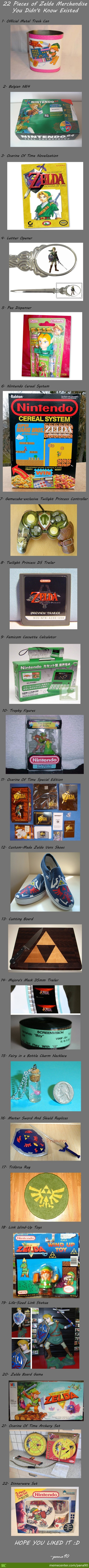 22 Official Zelda Merchancise You Probably Didn't Know Existed (Long Post)