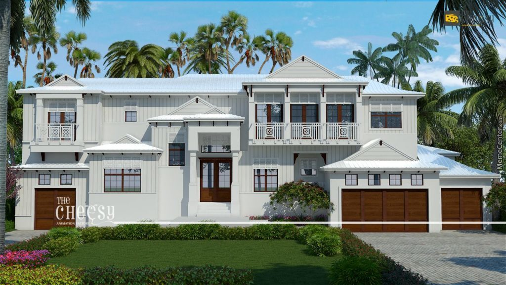 3D Exterior Rendering And Cgi House Design Studio by