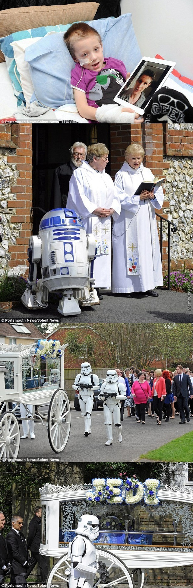 4 Years Old Boy Diagnosed With A Brain Tumor Final Wish A Song From Doctor Who And A Star Wars Themed Funeral