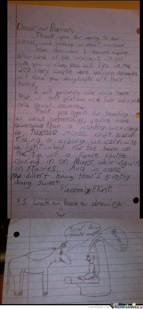 4Th Grader's Letter To Weather Man