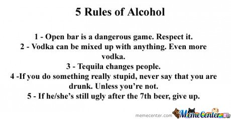 5 Rules of Alcohol