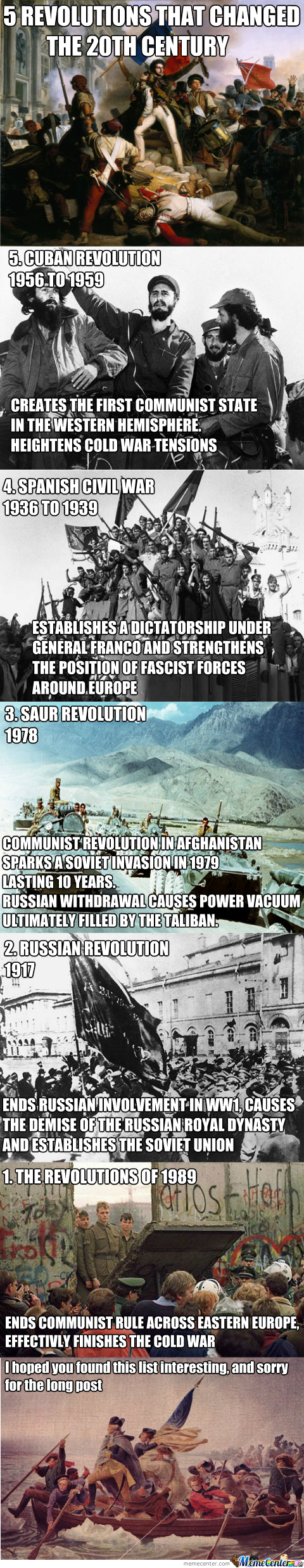 5 Revolutions That Changed The 20Th Century