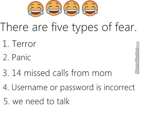 5 Types Of Fears :i