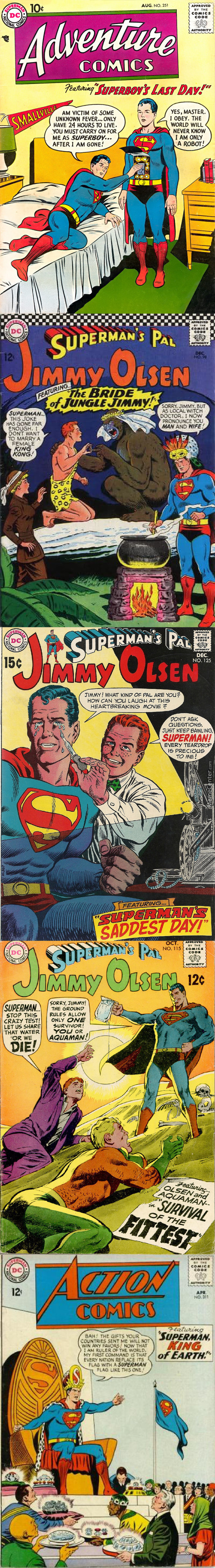 5 Wtf Comic Book Covers Ft. Superman (What The Hell Were They Smoking Back Then)