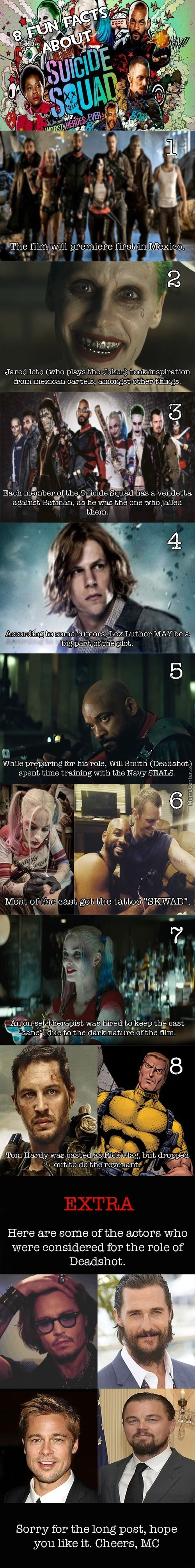 8 Facts You Didn't Know About Suicide Squad