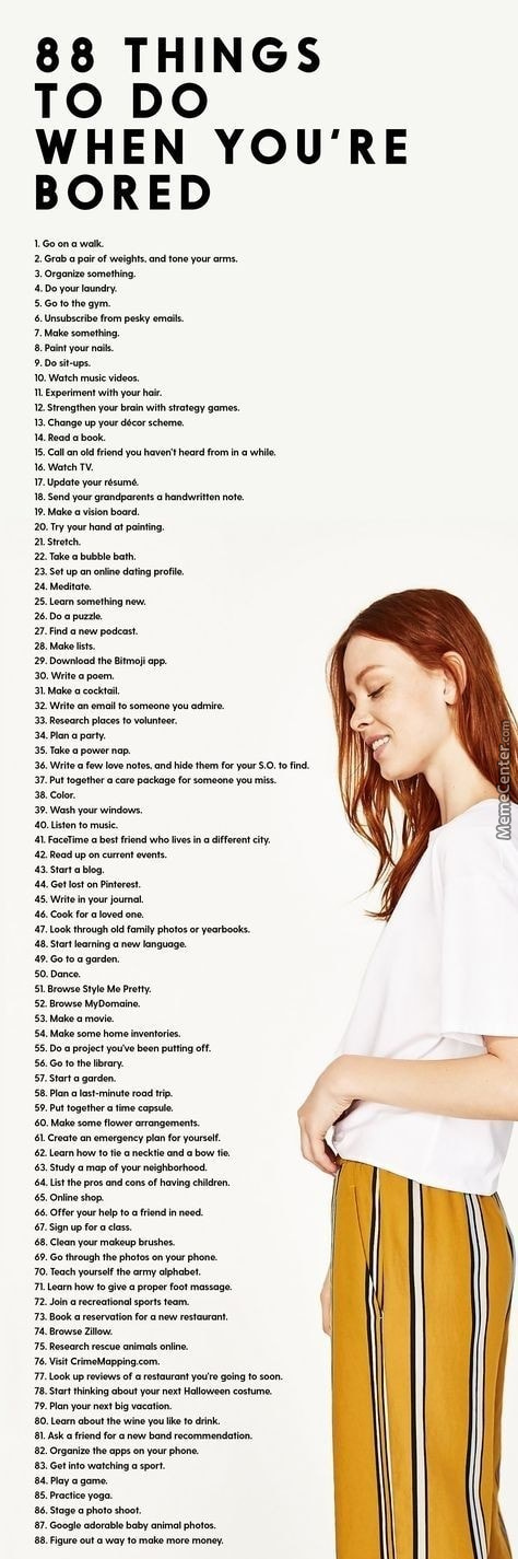 88 Things To Do When You're Bored