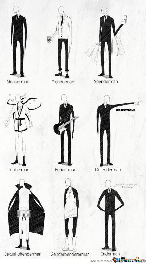 9 Forms Of Slenderman