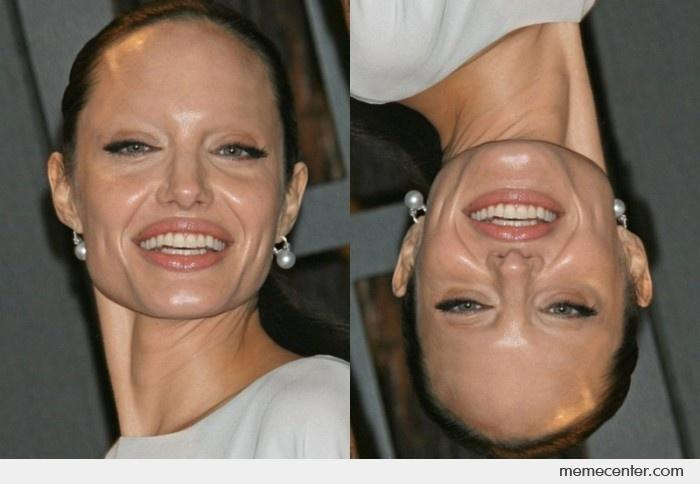 Angelina Jolie Without Eyebrows Redo By Ben Meme Center