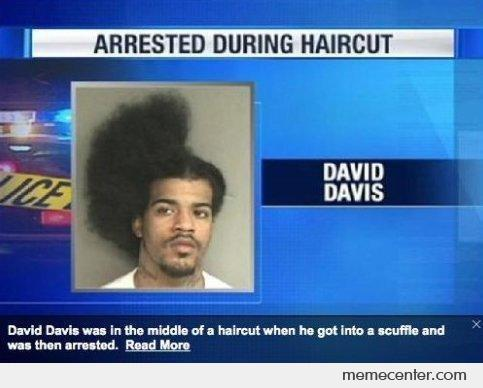 Arrested During Haircut