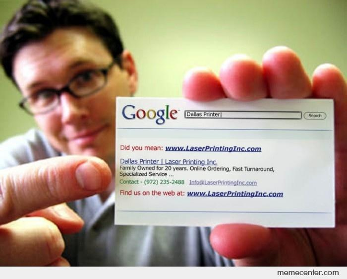 Awesome Google Search Business Card_o_78827 awesome google search business card by ben meme center
