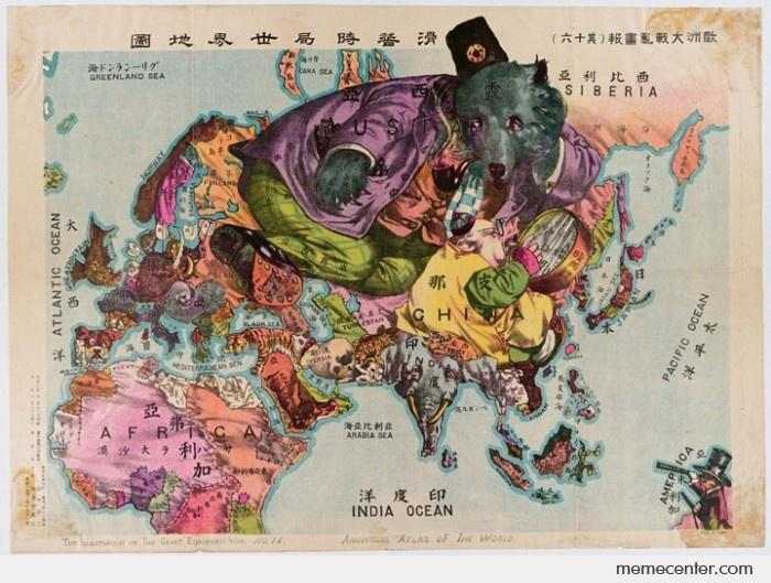 Awesome Japan World Map (1900) by ben - Meme Center