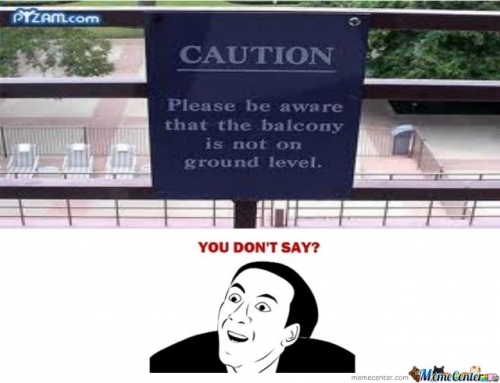 Balcony is not on ground level