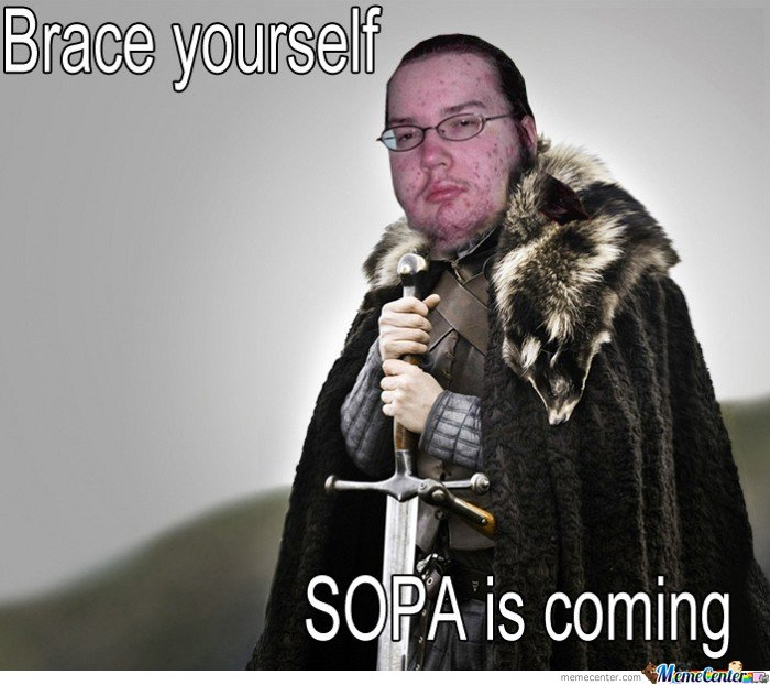 Brace yourself, Sopa is coming