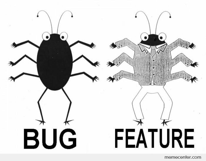 Bug vs. Feature