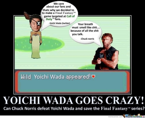 CHUK NORRIS, SAVE FINAL FANTASY