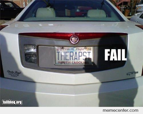CLASSIC: License Plate FAIL