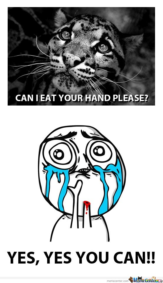 Can I eat your hand please?