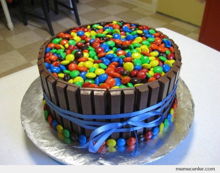 Candy Birthday Cake By Ben Meme Center