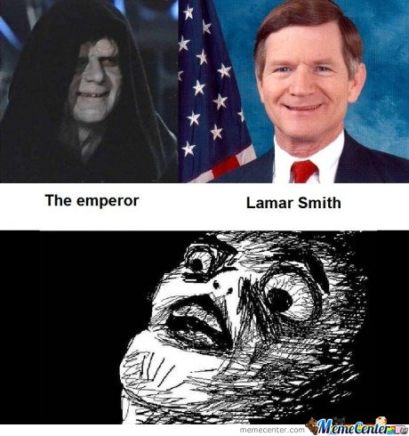 Cannot be unseen - The emperor & Lamar Smith