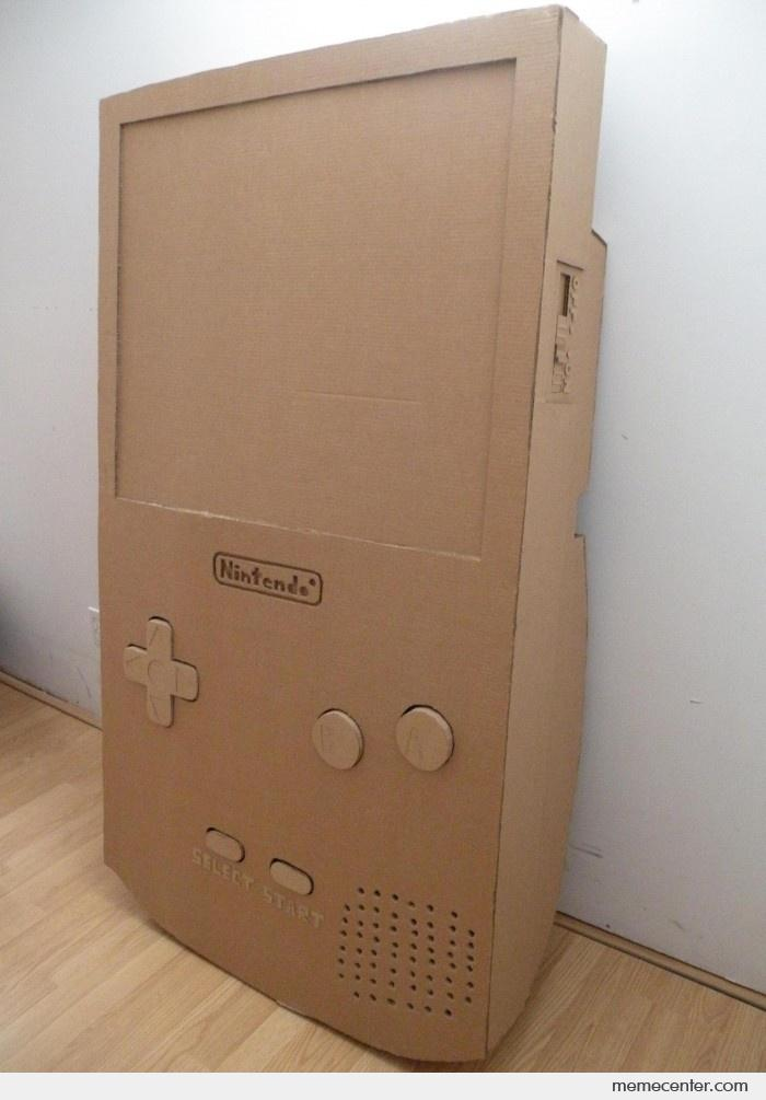 how to make a cardboard gameboy