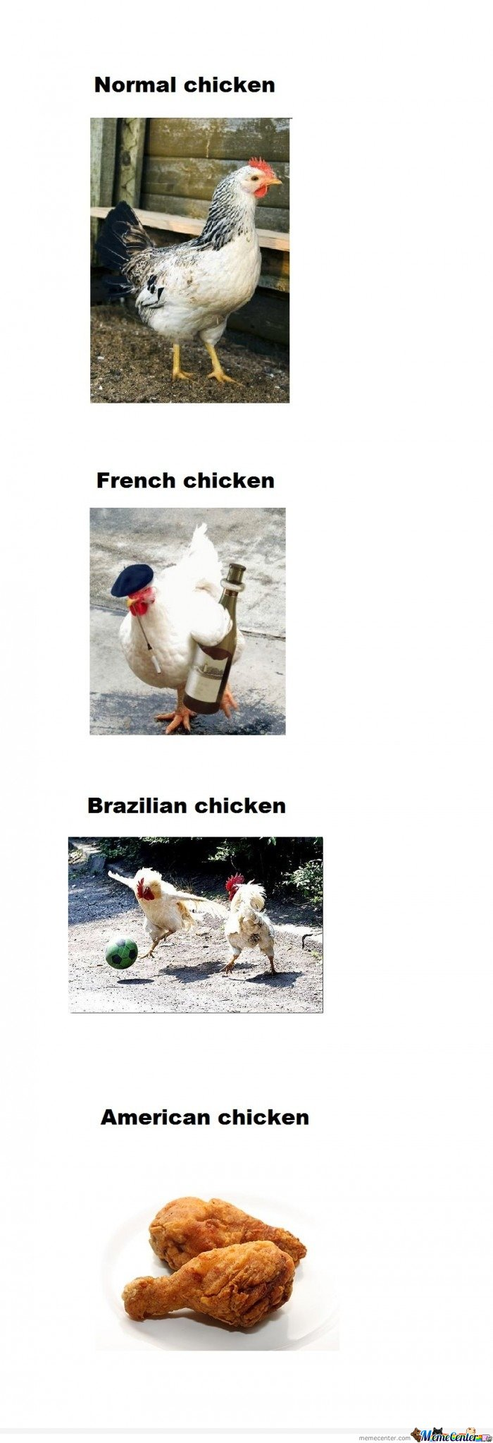 Chicken & French Chicken & Brazilian Chicken
