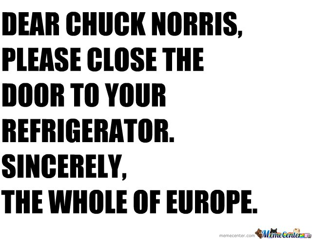 C'mon Chuck, Gods are supposed to be Merciful