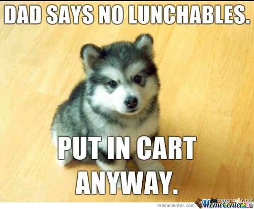 Dad Says No Lunchables Put In Cart Anyway By Mustapan Meme Center