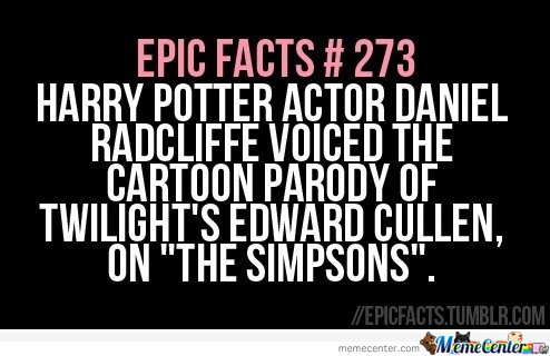 Daniel Radcliffe voiced the twilight's Edward Cullen