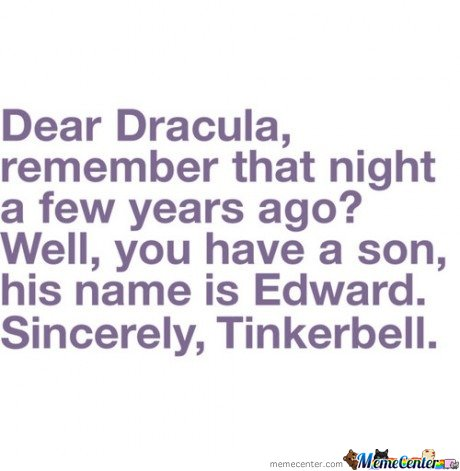 Dear Dracula , do you remember few years ago?
