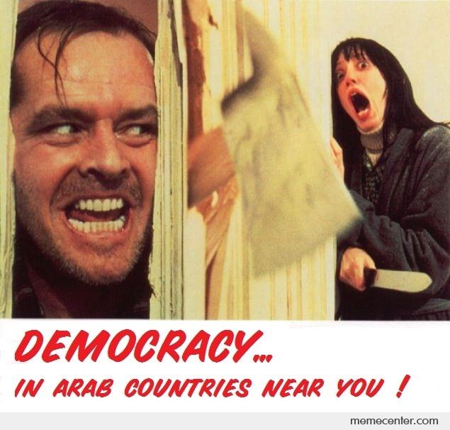 democracy in the arab world Islamic democracy is a  they argue that the compatibility is simply not there between secular democracy and arab-islamic  democracy and the muslim world.