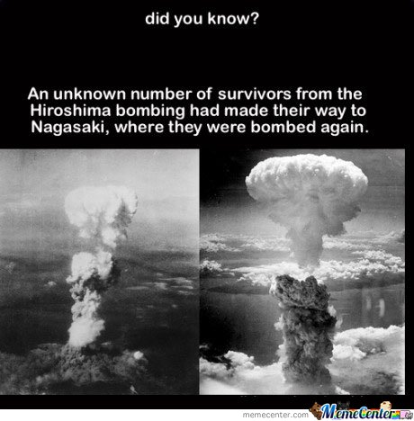 Did You Know? An Unknown Number Of Survivors From The Hiroshima Bombing..