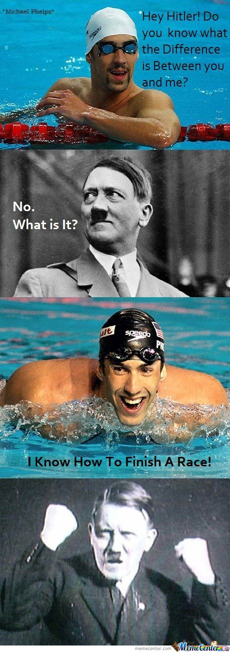 Difference between Hitler & Michael Phelps