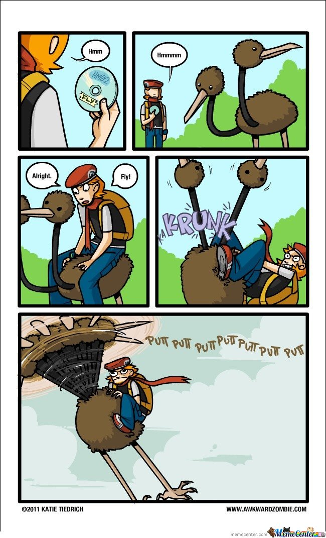 Doduo trying to learn HM02 (Fly)