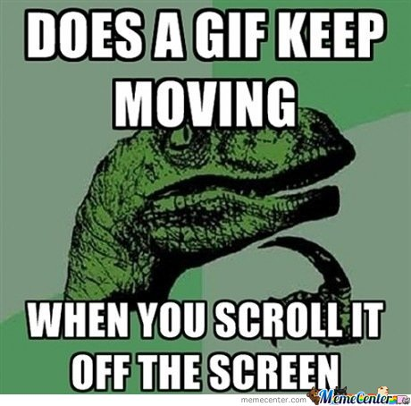 Does A Gif Keep Moving When You Scroll It Off Screen