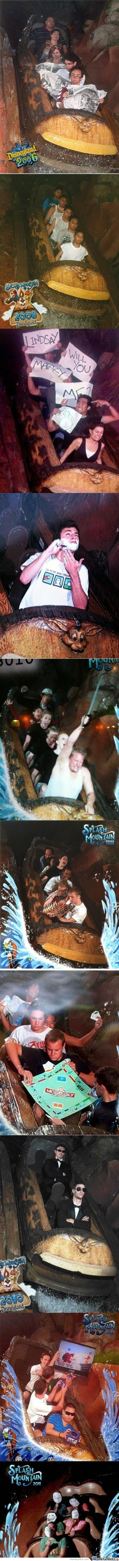 Dysneyland's splash mountain