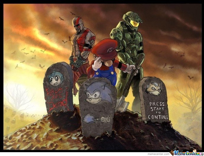 Epic Artwork Mario & Halo & Kratos etc