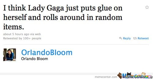 Epic Orlando Bloom tweet about Lady Gaga